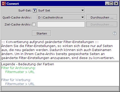 MM3-Convert Konfiguration