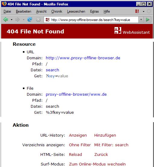 Fehlermeldung: File Not Found mit Filter