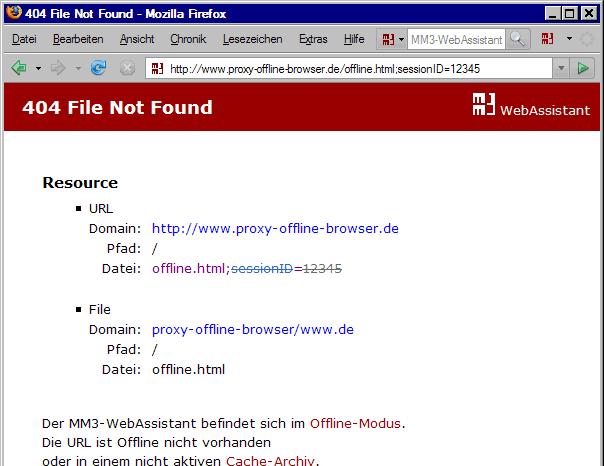 Fehlermeldung: File Not Found