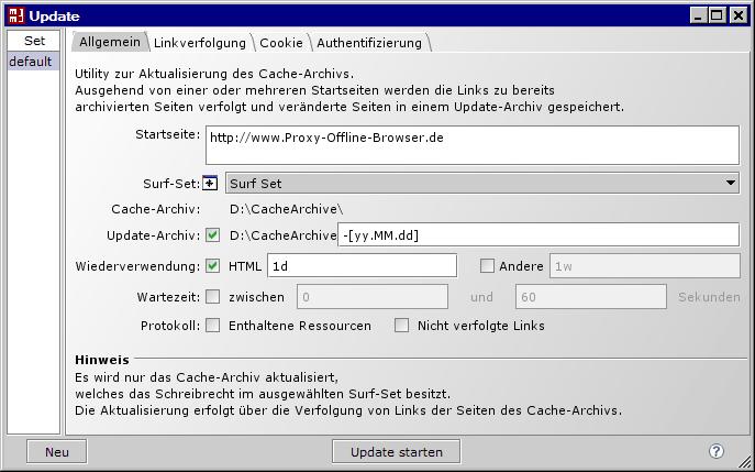MM3-Update Konfiguration
